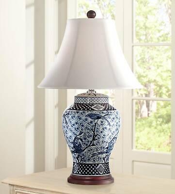 Traditional Table Lamp Porcelain Blue and White Jar for Living Room Bedroom Jar Porcelain Table Lamp