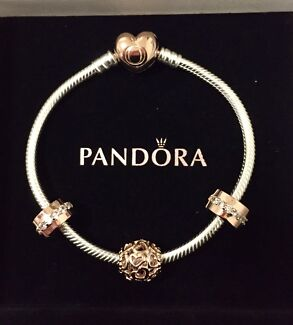 Wanted: Pandora bracelet rose gold heart clasp and charms