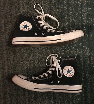 Men's Black & White CONVERSE CHUCK TAYLOR ALL STAR Hightop Shoes, Size 6.5, GUC