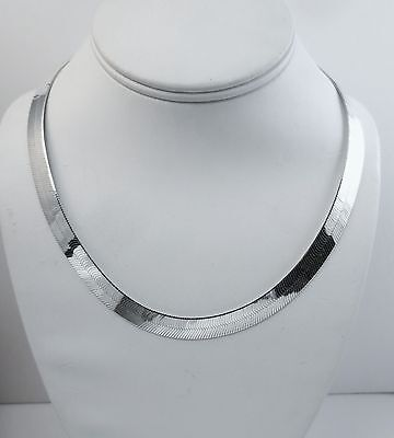 .925 Italian Chain. 3.5mm to 14mm Sterling Silver 18 inch Herringbone Necklace