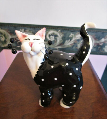Annaco Creations Black & White Cat Figurine 2001