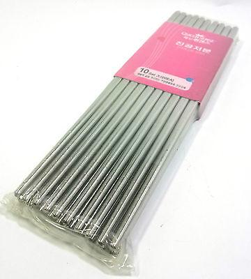 10sets (20ea) Hollow Chopsticks Light Stainless Steel Light Convenient Hygienic