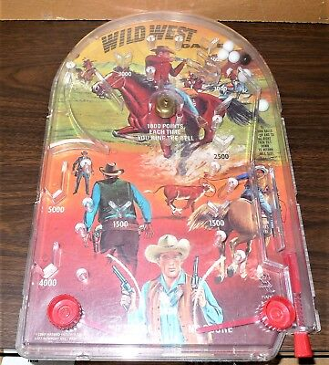 1969 Hasbro   Wild West Pinball Game Cowboys  Western Themed   - Western Theme Games