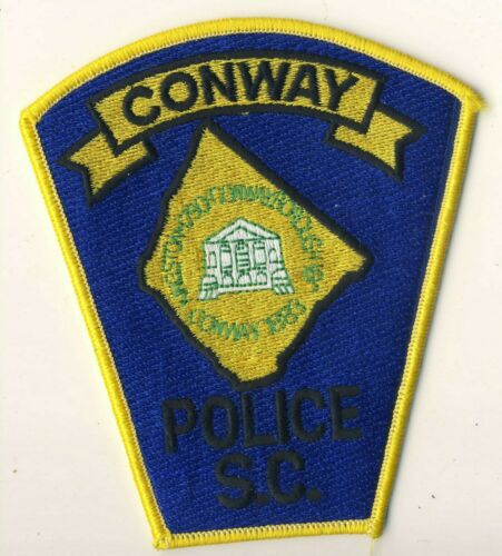 "Conway SC South Carolina Police 4.5"" Shoulder Patch"