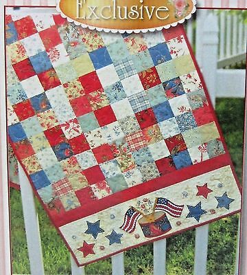 "Shabby Fabrics American Glory USA Table Runner Quilt Patterns 22.5"" x 51.5"""