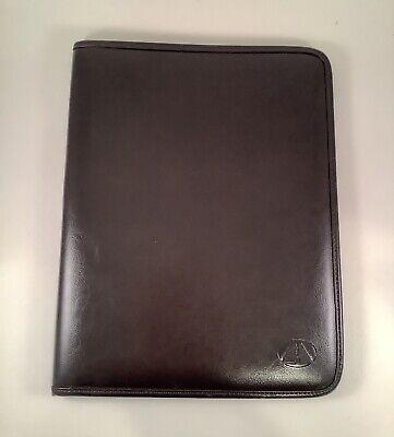 Avenues America -brown Faux Leather Portfolio Binder Office Compendium Padfolio