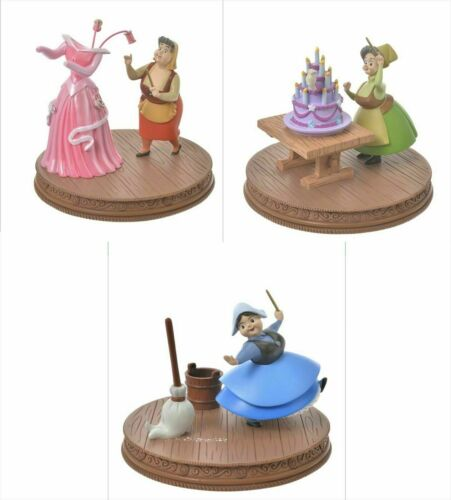 Disney Store Japan Sleeping Beauty Figure Flora Fauna Merryweather Set of 3 New