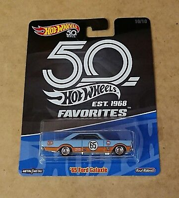 Hot Wheels 50th Anniversary Favourites 65 Ford Galaxie. Collectable Model Toy