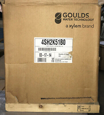 Xylem Goulds Ssh 4sh2k51b0 7.5 Hp 316 Stainless Steel End Suction Water Pump