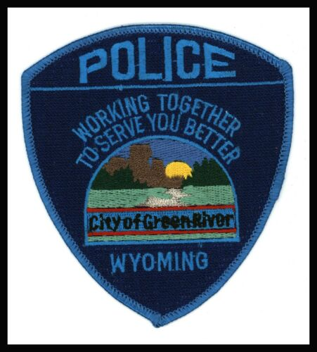 """Green River Wyoming 3.75"""" x 4.25"""" Embroidered Police Patch"""