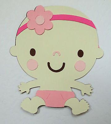 Baby Girl Die Cut Paper Scrapbook Embellishment