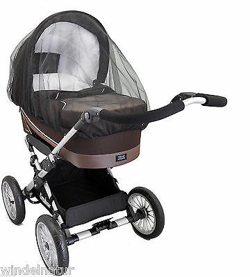 Mückennetz für Kinderwagen Fliegen Insekten Schutz Baby schwarz ASMi Moskito