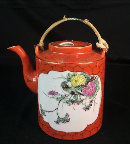 Early 20th C Republic Period Antique Chinese Porcelain Famille Rose Teapot