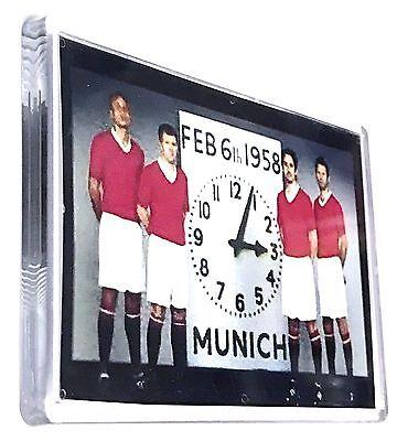 United Fridge Magnet  FEB 6th 1958 Clock Munich Football Gifts