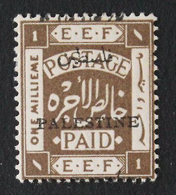 Palestine Jer I, 1m, Mispalaced Overprint Veriety, MLH Stamp #a410j