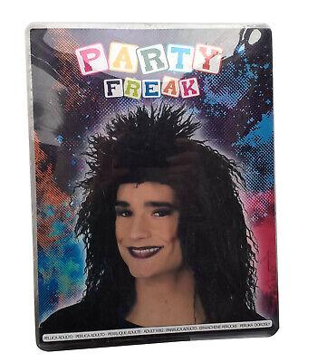 B-Ware Party Freak Perücke Kostüm schwarz gelockt lang für Erwachsene B - Freak Kostüm Party
