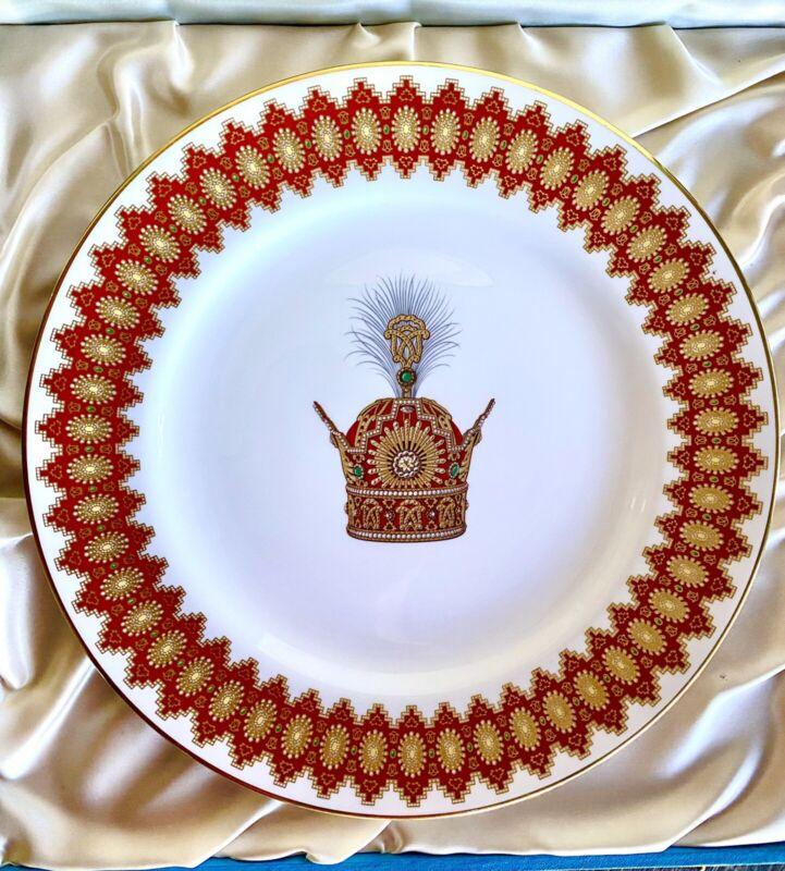Pahlavi Plate 50th Anniversary Of Pahlavi Dynasty (Spode England)