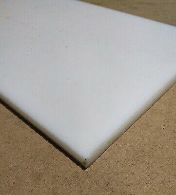 """.375/"""" x 12/"""" x 12/"""" White 3//8/"""" Teflon PTFE Virgin Sheet"""