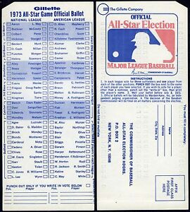 1973-RARE-UNUSED-MLB-BASEBALL-ALL-STAR-GAME-BALLOT-at-KANSAS-CITY-ROYALS-STADIUM