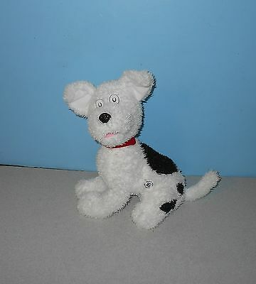 "12"" Kohl's Cat in the Hat NEVIN The White Dog Bean Stuffed Plush Animal Lovie"