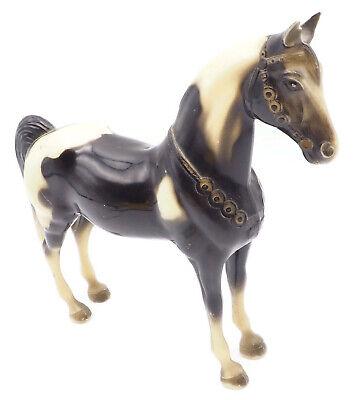 Vintage1955 Breyer No.55 Glossy Black & White Pinto Pony Missing Chain,  No Box