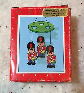Vintage Christmas Chime Russ Taiwan Soldiers Mini