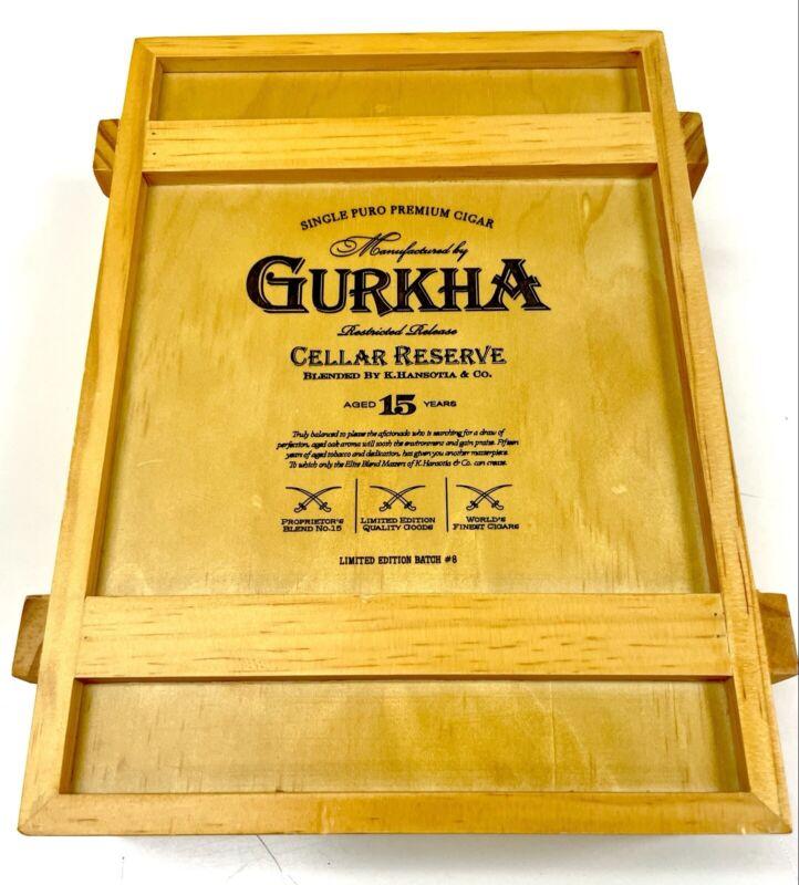 Gurkha Cellar Reserve 15 Year, Empty Cigar Box, No Cigars