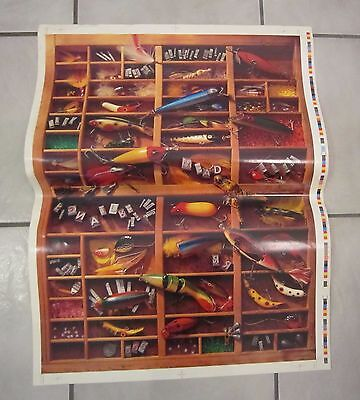 Vintage Fishing Lures, Tackle Poster CATCH THE WINNERS, Advertisement, Man Cave