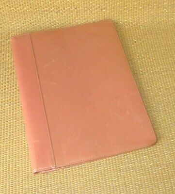 Monarch Franklin Covey Pinksalmon Leather Wire Bound Folio Planner Cover