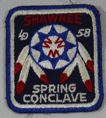 Vintage 1958 Shawnee Spring Conclave Embroidered Patch BSA Boy Scouts of America