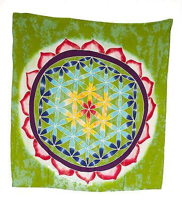 Batik Chakra Sri Yantra Mandala Flower Hanging Cotton Handmade 105x96cm 2627 U