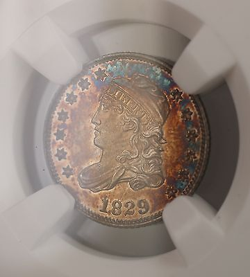 Click now to see the BUY IT NOW Price! 1829 PROOF CAPPED BUST SILVER HALF DIME 5C COIN NGC MS 64 TONED PROOF  GKG