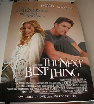 ROLLED 2000 The NEXT BEST THING VIDEO MOVIE POSTER MADONNA RUPERT EVERETT
