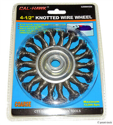 4-12 Knotted Wire Wheel For Angle Grinders Straight Grinder Coarse Brush