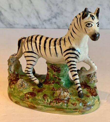 Staffordshire Zebra Early 20th Century