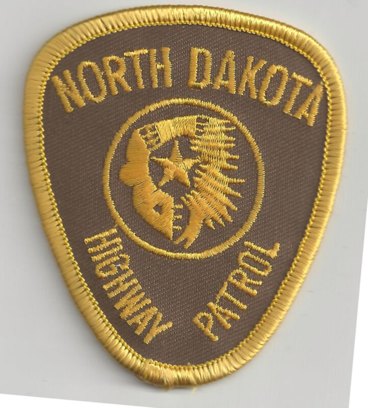 NORTH DAKOTA HIGHWAY PATROL - SMALL SHOULDER PATCH - IRON OR SEW-ON PATCH