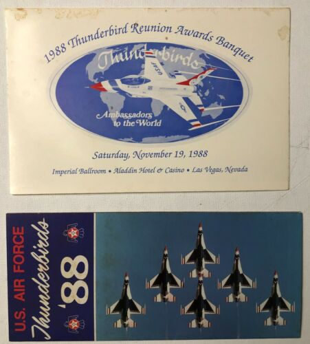 1988 USAF Thunderbirds Reunion Awards Banquet Program Airshow Event Schedule