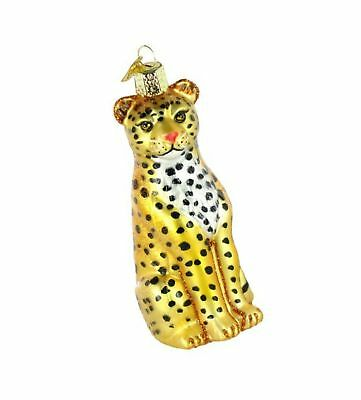 Old World Christmas Ornaments: Leopard Glass Blown Ornaments for Christmas Tree](Leopard Christmas Ornaments)