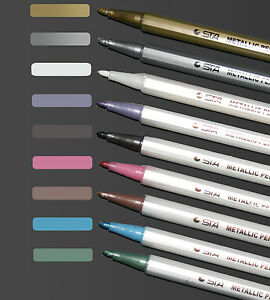 Metallic marker paint pen gold silver bronze ideal for for Paint pens for wood crafts