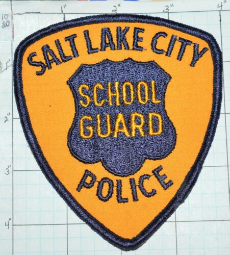 UTAH, SALT LAKE CITY POLICE DEPT SCHOOL GUARD VINTAGE PATCH