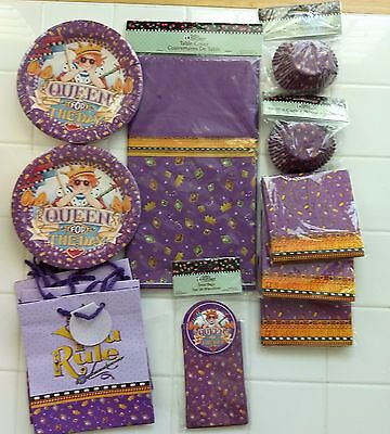 MARY ENGELBREIT Queen for the Day Party Decor Plates Napkins Tablecloth Bags NIP