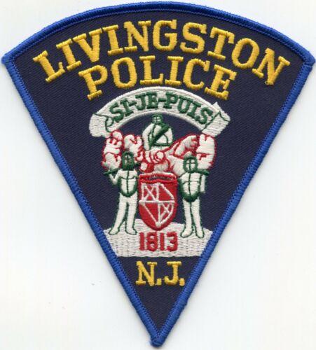 LIVINGSTON NEW JERSEY NJ Blue Border POLICE PATCH