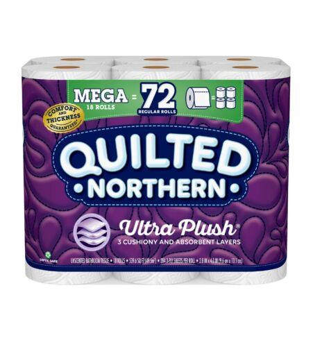 Quilted Northern Ultra Plush Toilet Paper, 18 Mega Rolls = 72 Regular Rolls