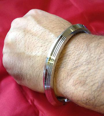 Stunning Stainless Steel CHUNKY 7 lines Sikh Singh Khalsa Kara Sikh Bracelet H7