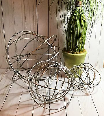 Industrial Silver Decor Urban Trends Metal Orb Spoke Sphere Sculpture - Urban Decorations