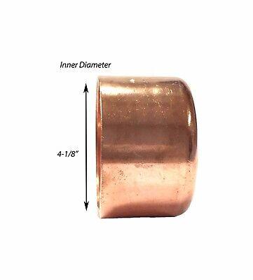 Libra Supply 4 Inch 4 4-inch Copper Pressure Sweat Cap Copper Pipe Fitting