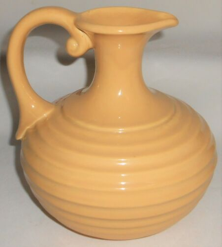 GLADDING McBEAN - FRANCISCAN Ringed Carafe or Pitcher BUTTERSCOTCH California