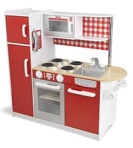 Kids wooden kitchen ebay for Kids kitchen set sale