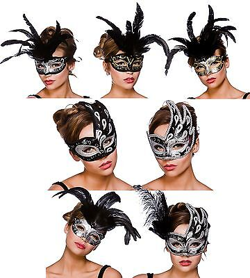 Ladies Masquerade Mask Baroque Ball Mask Fancy Dress Costume Accessories - Masquerade Ball Accessories