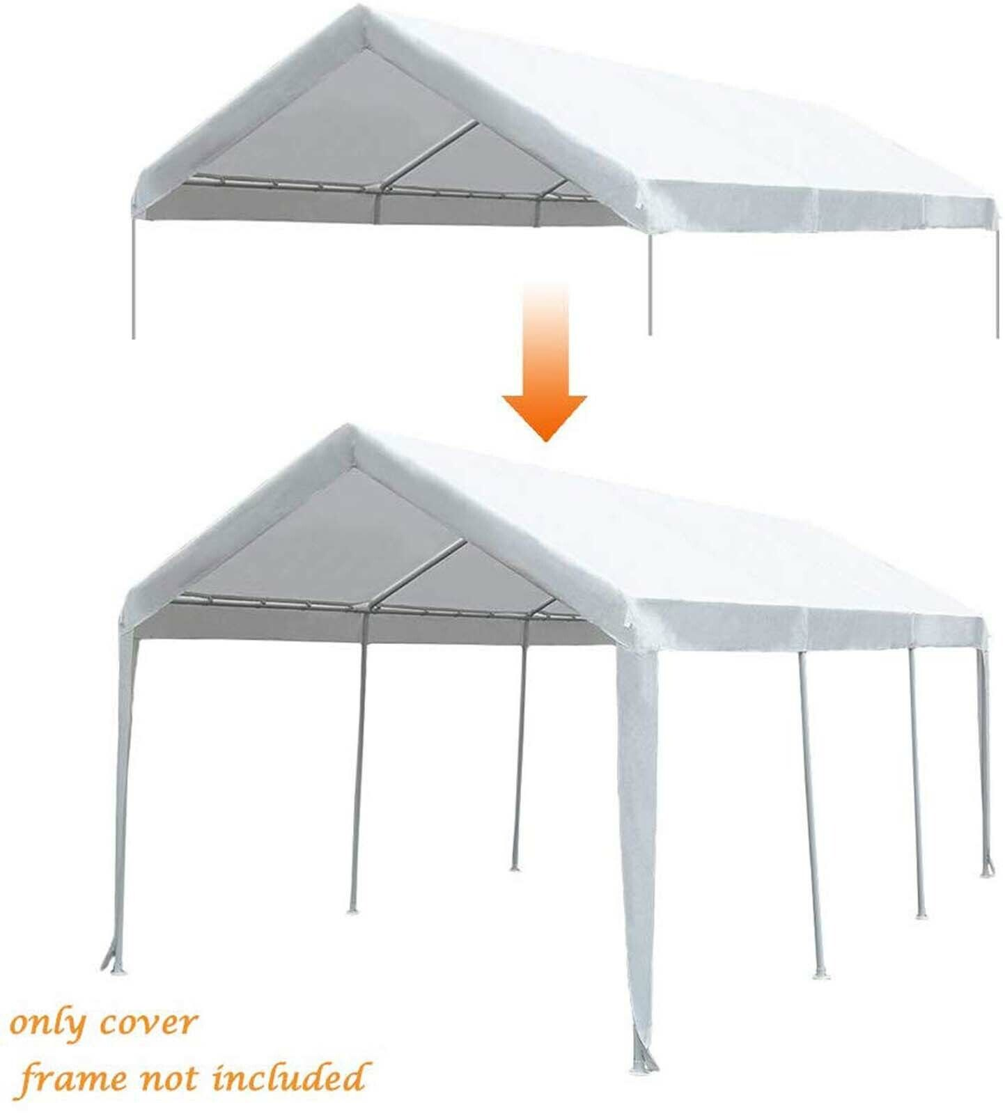 10'x20' Auto Shelter Portable Garage Shed Canopy Carport Sid